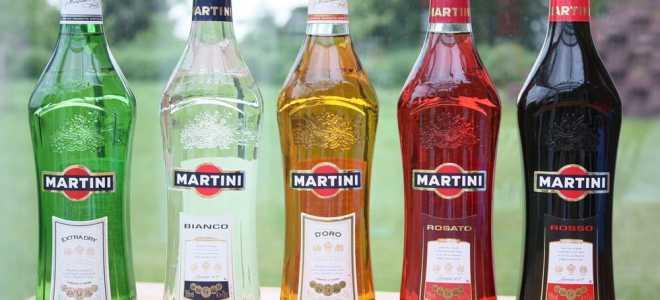 Крепость и проценты алкоголя в различных напитках от мартини