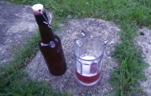 Готовое вишневое пиво