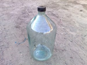 СТеклянная тара для хранения самогона