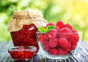Варенье и ягоды малины