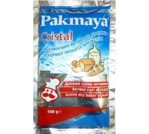 Упаковка 100 грамм дрожжей Пакмайя Cristal