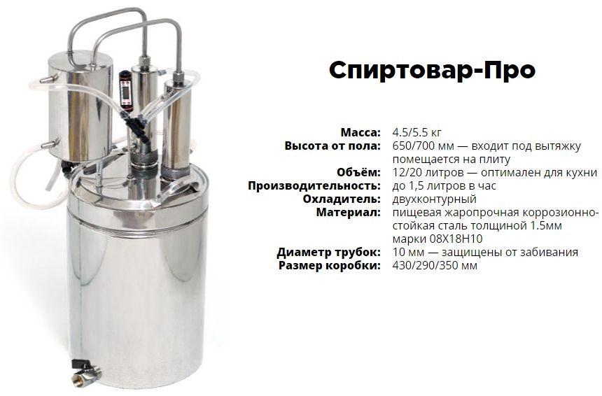 Самогонный аппарат спиртовар про инструкция автоклав электрический для домашнего консервирования купить украина