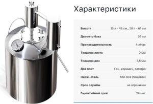 Характеристики аппарат Хлынов
