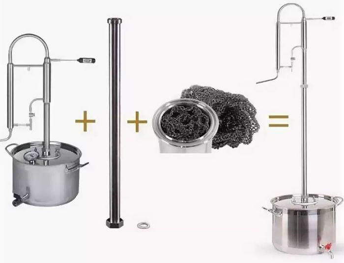 Чем отличается ректификационная колонна от самогонного аппарата самогонный аппарат в брянске купить