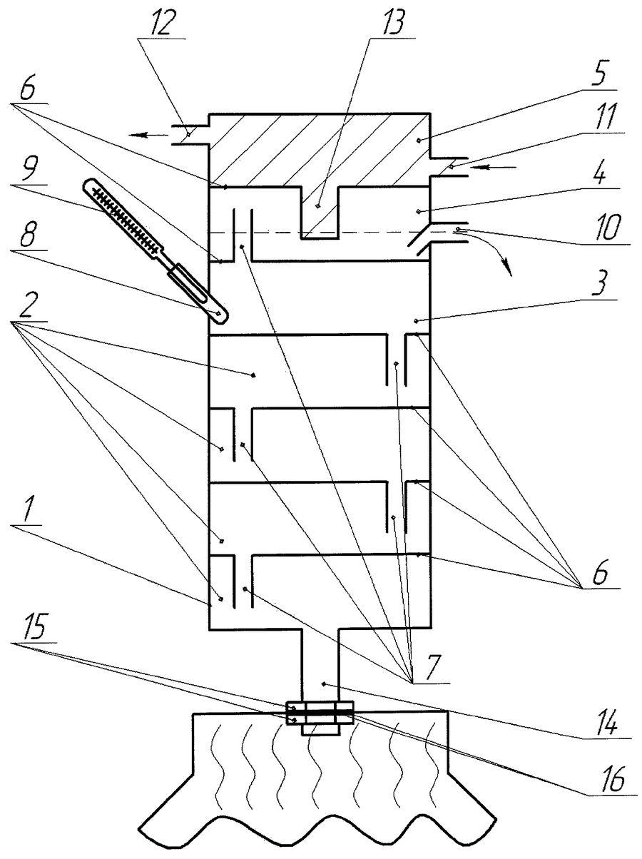 Нагревание жидкости и движение паров спирта по колонне